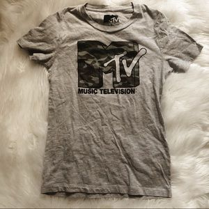 Women's camo MTV graphic shirt